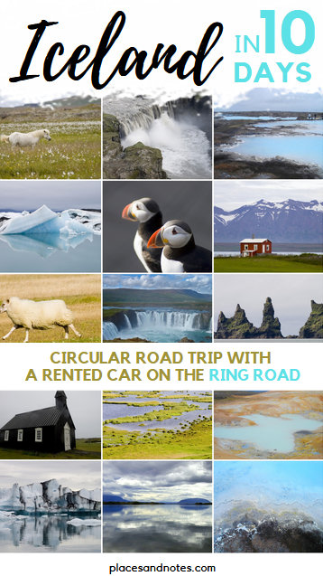 Iceland circular road trip with a rented car on the Ring Road