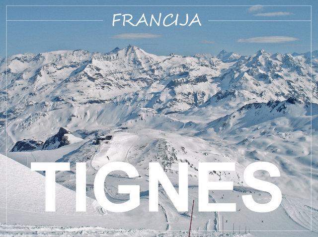 Tignes Francija smučanje v francoskih Alpah zimske počitnice potovanje