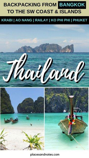 Backpacking Thailand in 2 weeks from Bangkok to Krabi, Ao Nang, Railay, Koh Phi Phi and Phuket
