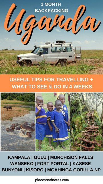 Uganda what to see and do in 4 weeks backpacking trip from Kampala