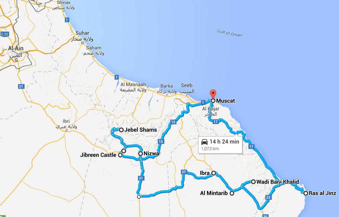 Muscat, Muscat Governorate, Oman to Muscat, Muscat Governorate, Oman - Google Maps - Mozilla Firefox 05052015 123829-001
