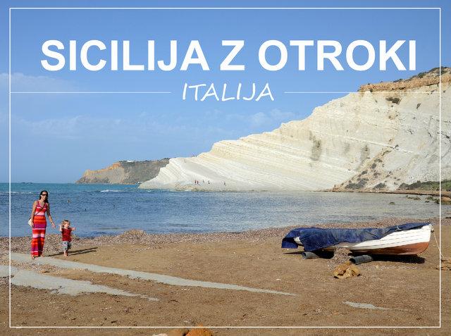 Sicilija Italija z otroki road trip z najetim avtom