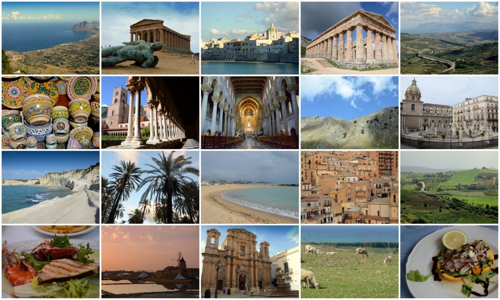 sicily collage