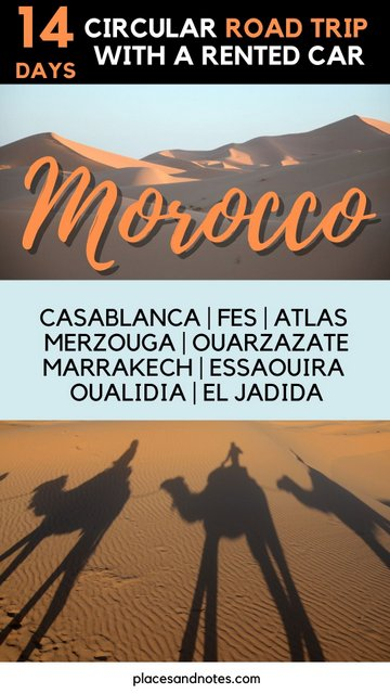 Travelling Morocco circuit road trip with a rented car