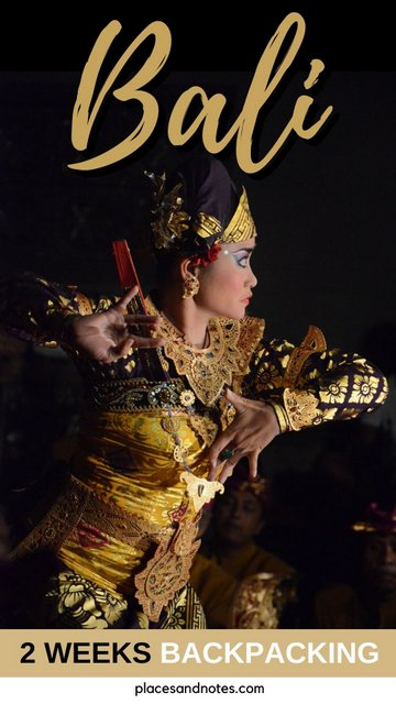 Bali Indonesia 2 weeks backpacking round trip
