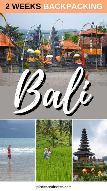 Indonesia Bali 2 weeks backpacking circular trip around the island