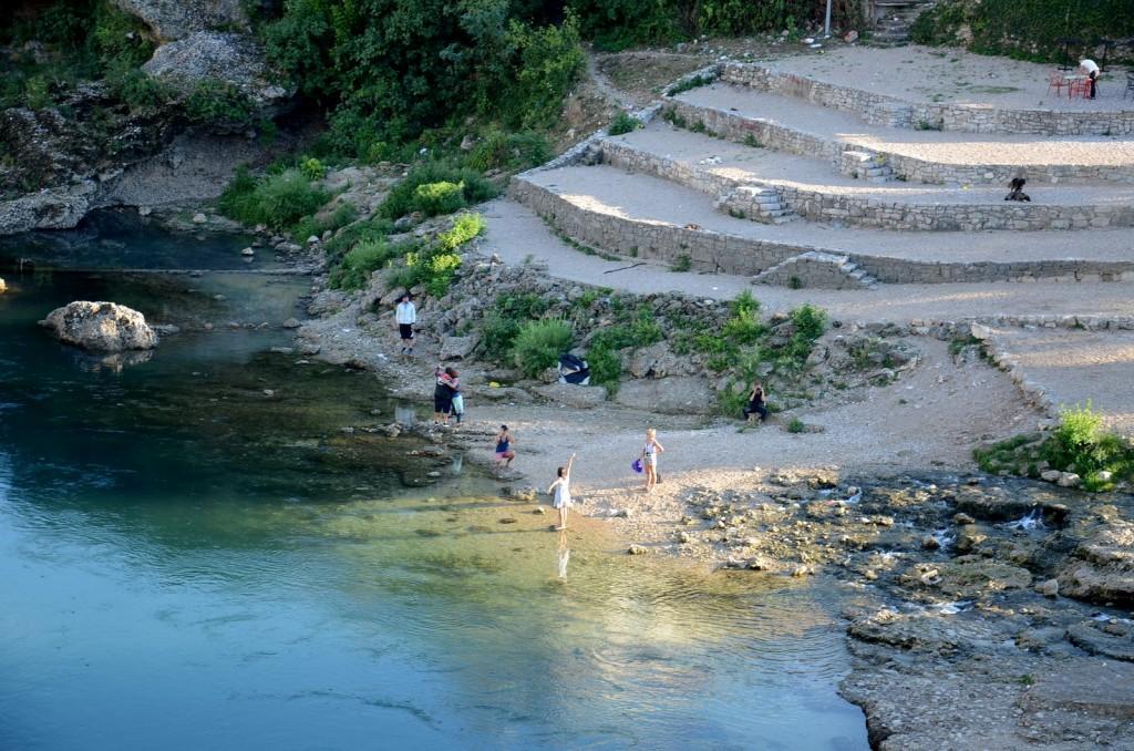 Mostar river banks