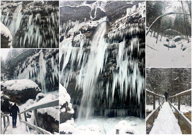Slap Peričnik waterfall Slovenia Kanjska Gora Mojstrana