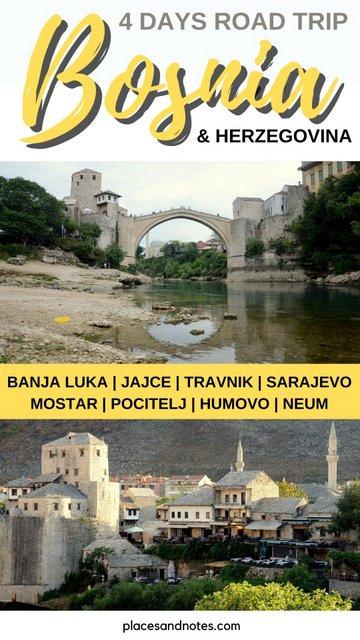 Road trip Bosnia & Herzegovina what to see and do Jajce Sarajevo Mostar and around