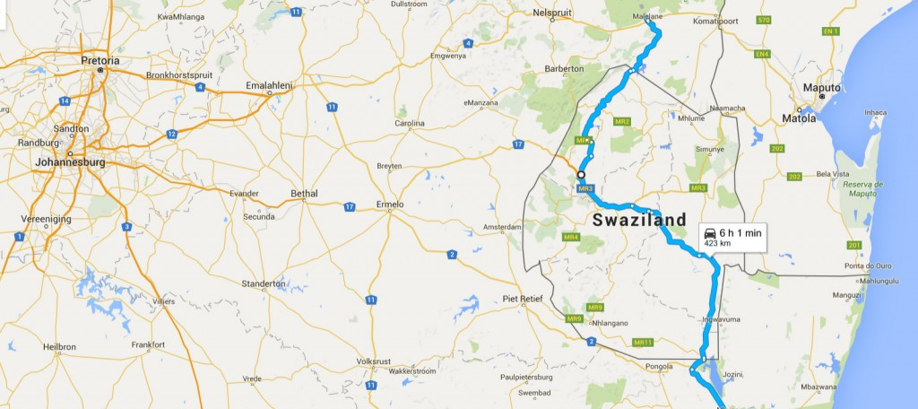swaziland map 2