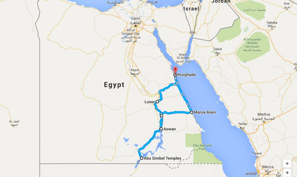 Egypt Nile map