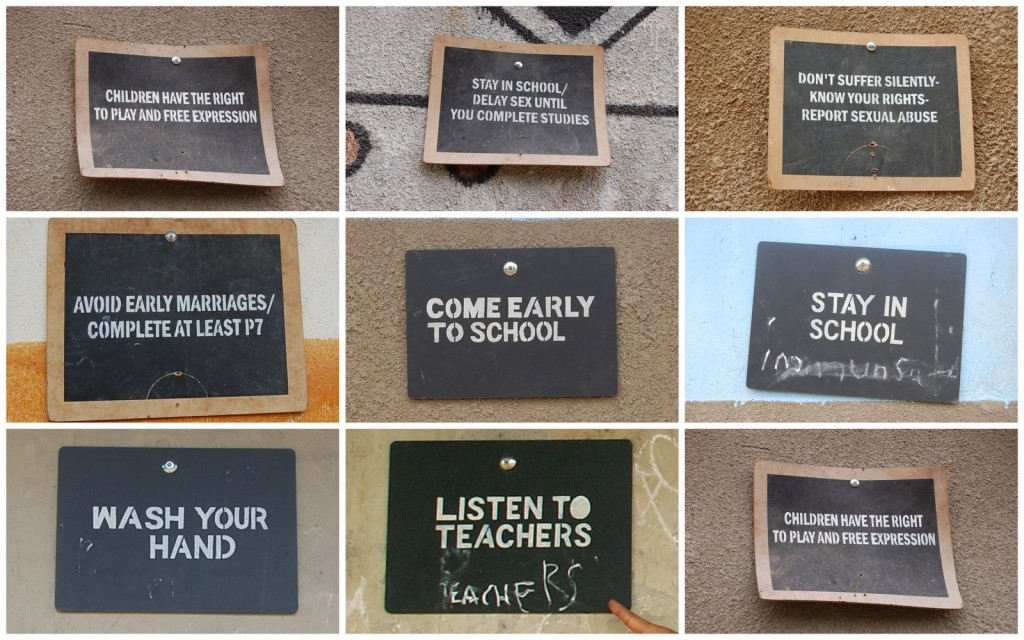 uganda school signs