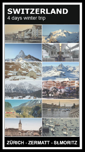 Switzerland 4 days winter road trip what to see and do