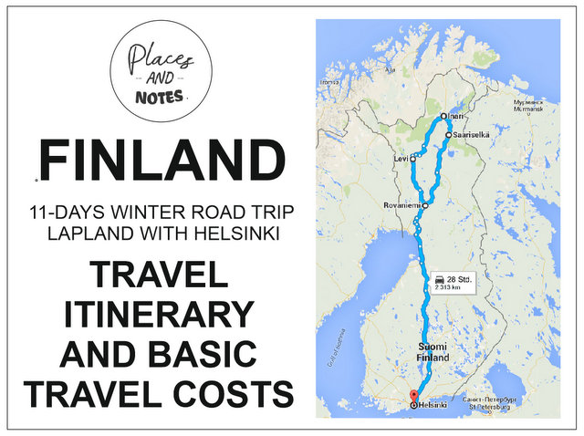 Finland travel itinerary and costs Lapland with Helsinki