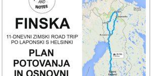 Laponska s Helsinki, FINSKA | plan potovanja in osnovni stroški našega zimskega road tripa