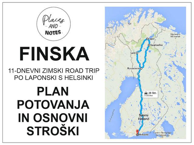 Finska Plan Potovanja in osnovni stroski