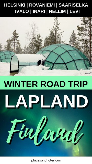 Finland Lapland circular road trip with a rented car from Rovaniemi