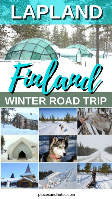 Lapland Finland winter circular road trip with a rented car from Rovaniemi plus Helsinki