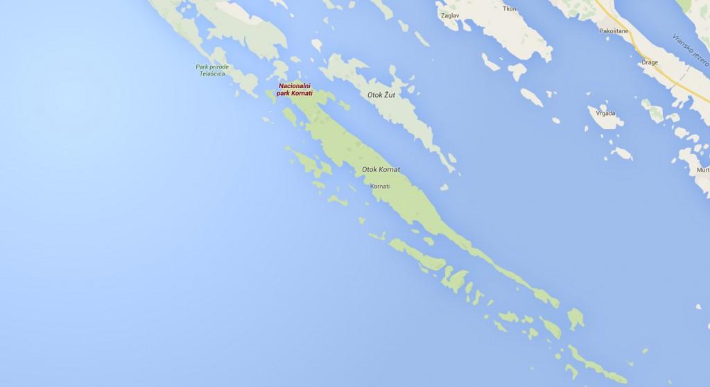 kornati NP map