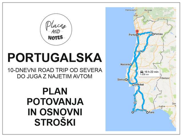 Portugalska 10-dnevno road trip potovanje od severa do juga z najetim avtom