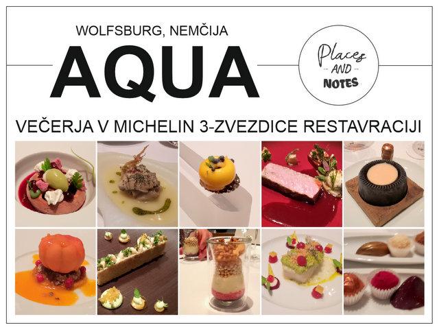 Vecerja v Michelin 3 zvezdice Restavraciji Aqua Wolfsburg Nemcija