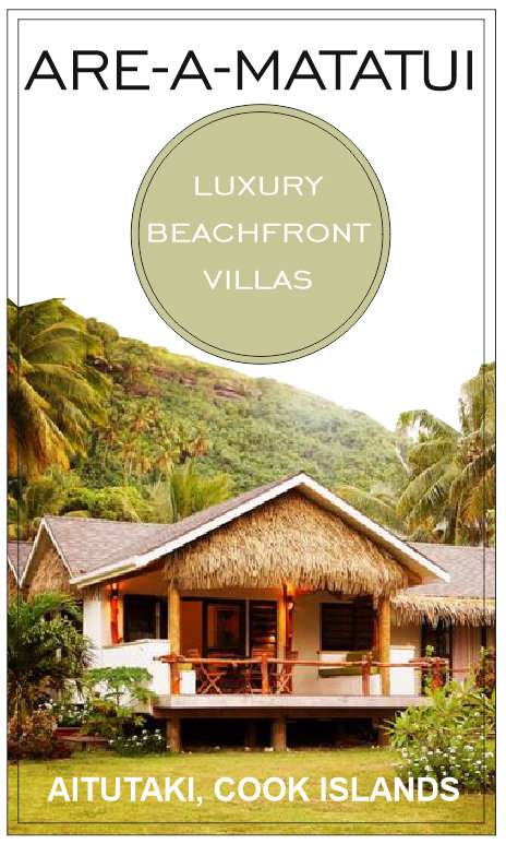 LUXURY BEACHFRONT VILLAS on AITUTAKI, Cook islands - ARE-A-MATATUI
