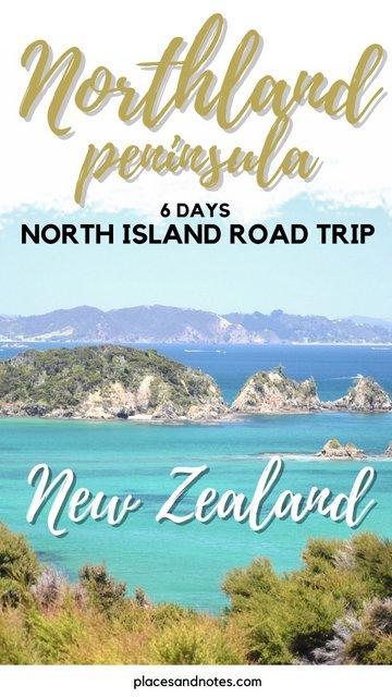 Northland peninsula New Zealand 6 days road trip