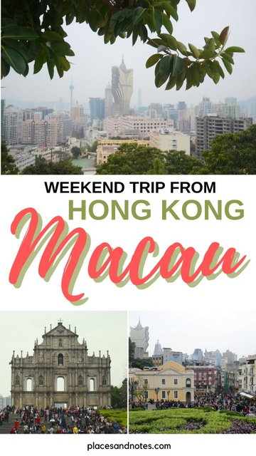 Macau weekend trip from Hong Kong what to see and do in 2 days