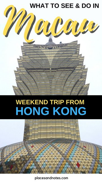 Weekend trip from Hong Kong to Macau what to see and do in 2 days