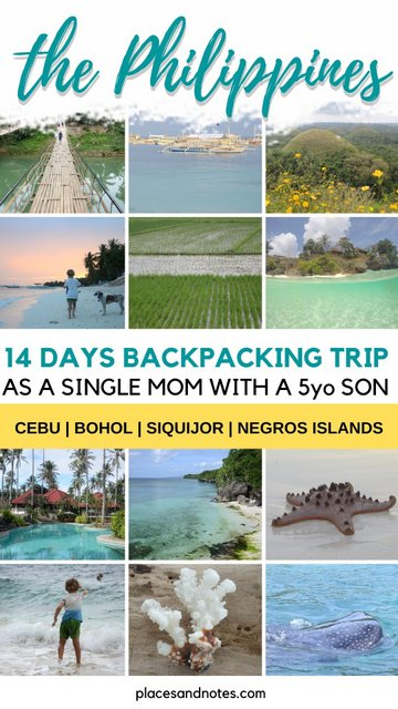 Philippines 2 weeks backpacking trip Cebu Bohol Siquijor Negros islands