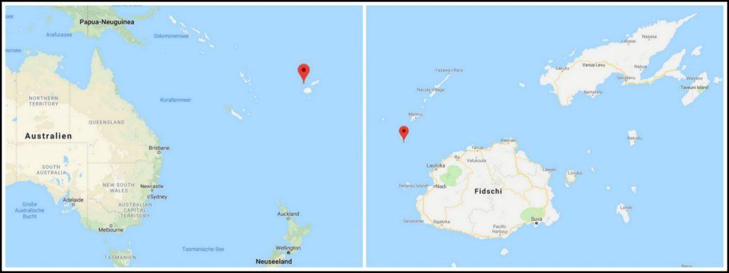 Kuata Yasawa islands Fiji map