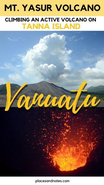 climbing up an active volcano Mt Yasur Tanna island Vanuatu