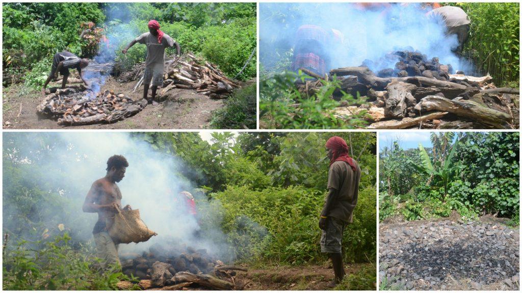 Yakel vilage Vanuatu Tanna cooking