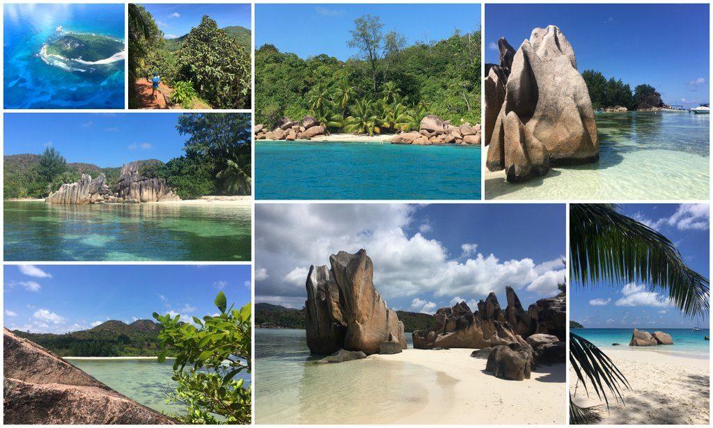 utrinki z otoka Praslin, Sejšeli