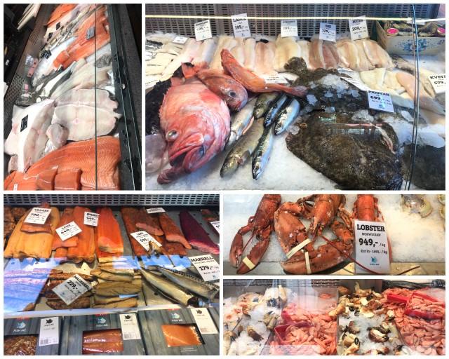 Fish market Bergen Norway Norveska