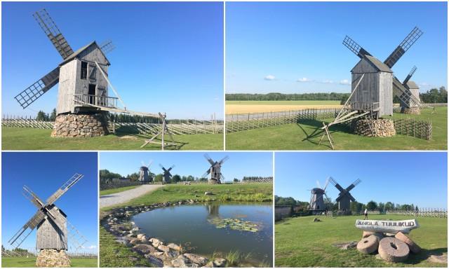 Saaremaa Angla Estonia windmills