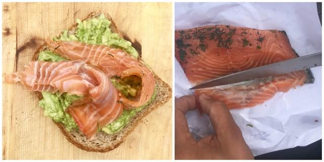 salmon norway snack