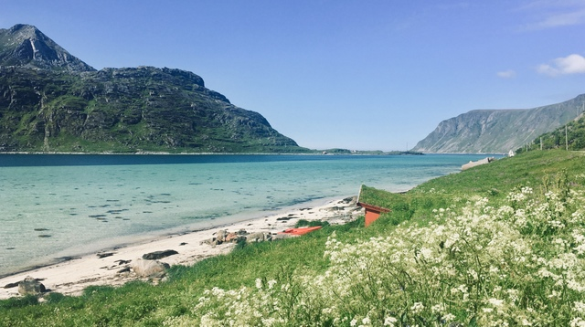 LOFOTEN BEACH NORWAY norveska lofoti plaza