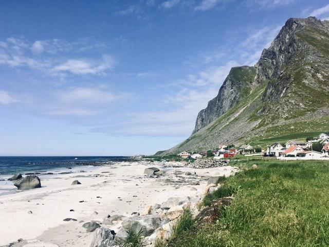 lofoten norway norveska lofoti plaza beach