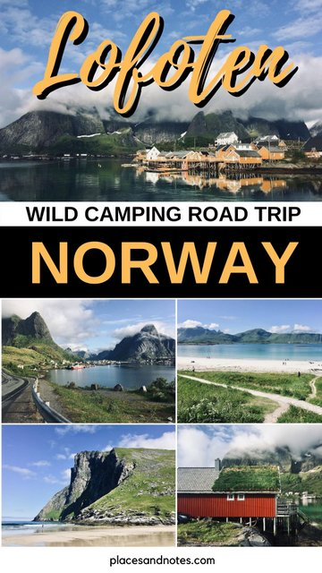 Lofoten islands Norway road trip wild camping with LR Defender camper car