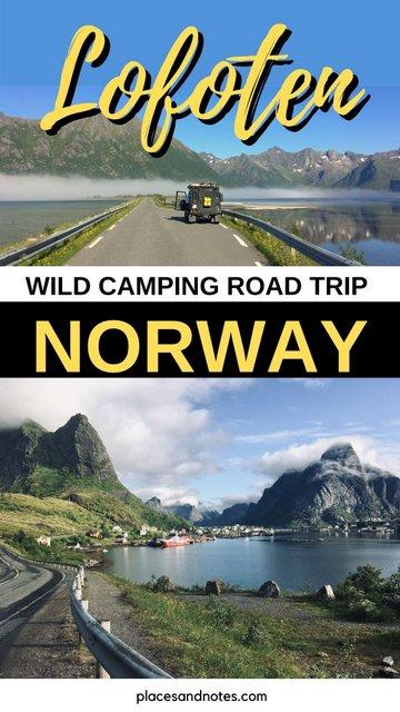 Lofoten islands Norway wild camping road trip with Land Rover Defender