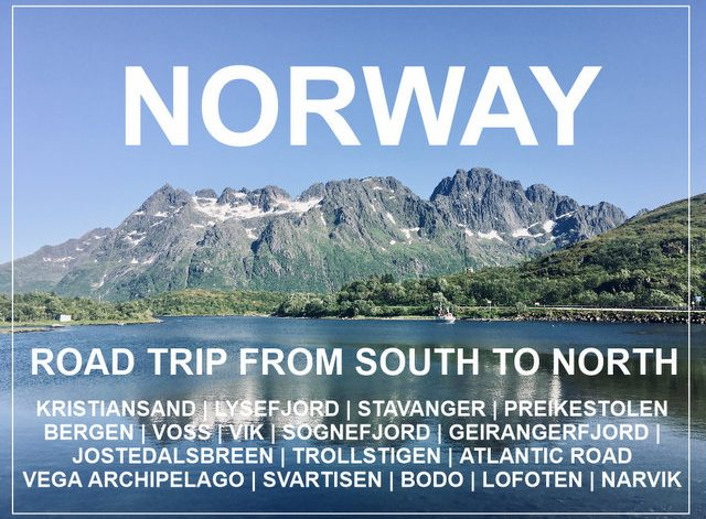 norway road trip from south to north wild camping