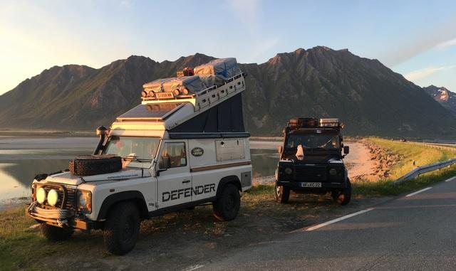 land rover defender norway norveska lofoti lofoten road trip