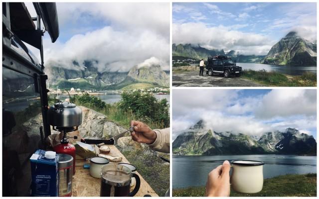 Lofoten breakfast vanlife
