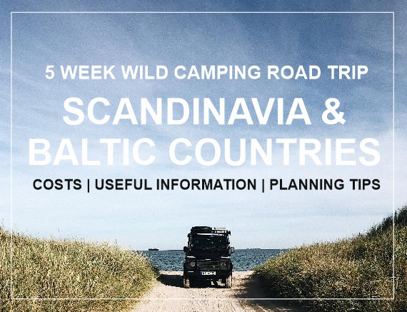 wild camping road trip Scandinavia baltic countries