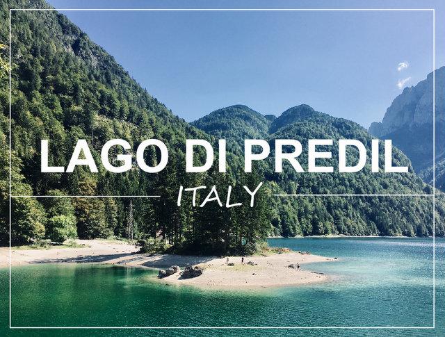 LAGO DI PREDIL ITALY