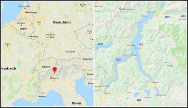 Lago di Como map zemljevid