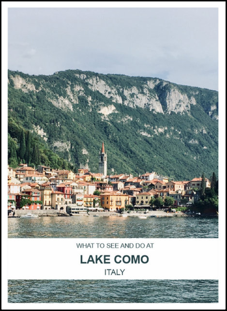 What to do a nd see at Lake Como Italy