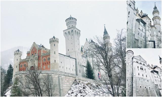 Neuschwanstein romantic road romantična cesta Nemčija grad