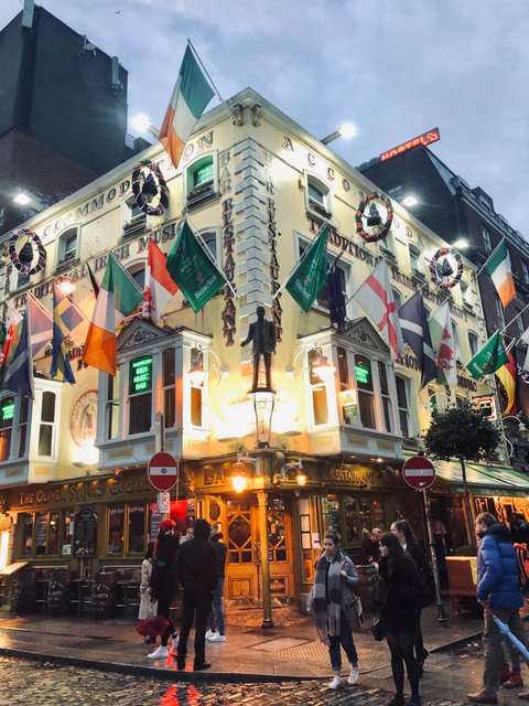 Temple bar area Dublin Ireland Irska